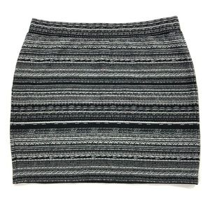 Ann Taylor LOFT Mini Skirt Black and White